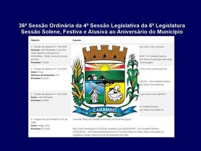 Câmara Municipal realizará Sessão Solene de Entrega de Título e Moções de Aplauso